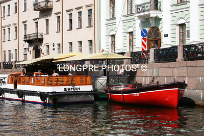 CANAL BOATS...St. Petersburg.