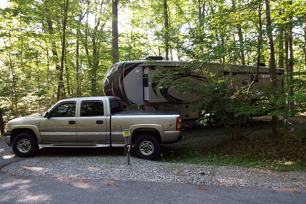 Our new 5th wheel in the woods of New Jersey
