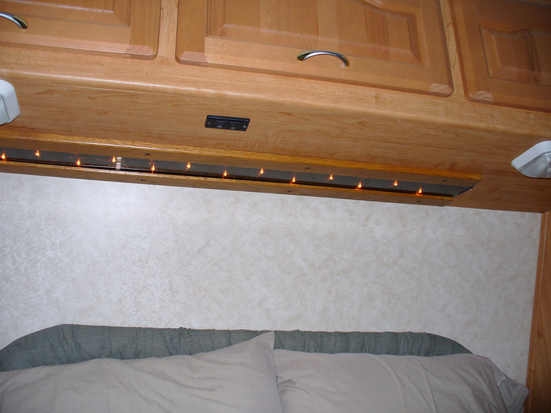Added mood lights over the bed.
