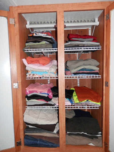 Note clothing rod at top if want to remove shelves and hang clothes instead.