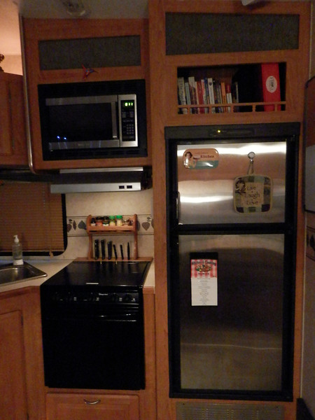 Have all original paperwork and manuals for all items on and in the RV in the red notebook above the fridge.