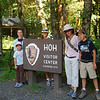 The Hoh Rain Forest, on the western side of Olympic NP.  We hiked about 2 miles here.
