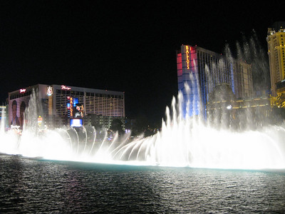 The Bellagio fountain display