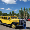 "These antique tour ""buses"" used to be common in Yellowstone but we only saw them a few times."