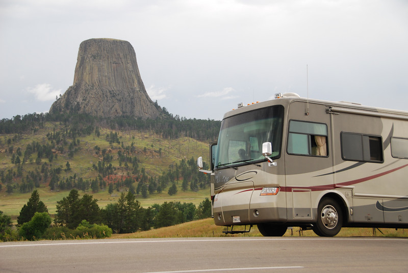 Devil's Tower Wyoming.  Does everyone remember Close Encounters of the Third Kind?