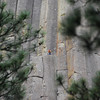 This climber gives you some perspective on the size of the tower.