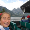 Still in the Tetons, we took a boat across Jenny Lake for a hike up to Inspiration Point.