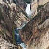 """Lower Yellowstone Falls and the """"Grand Canyon of the Yellowstone."""""""
