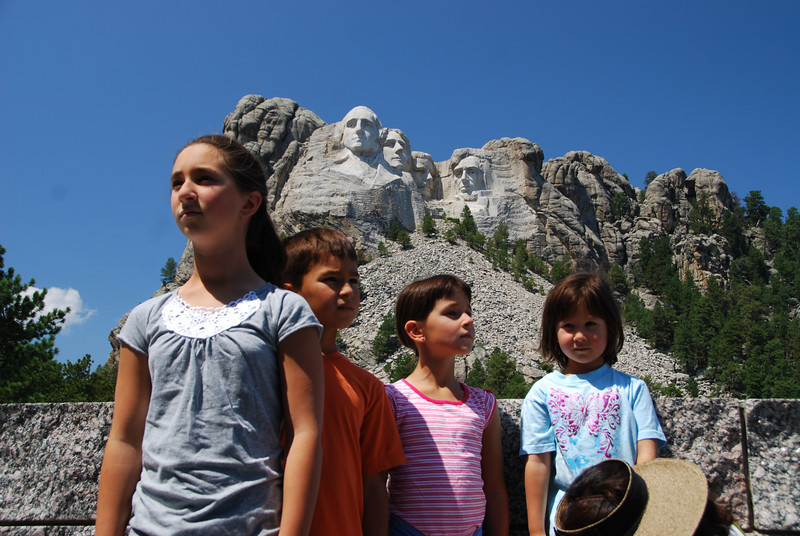 We're using Custer as a base camp to visit the Black Hills area.  Today we went to Mount Rushmore.