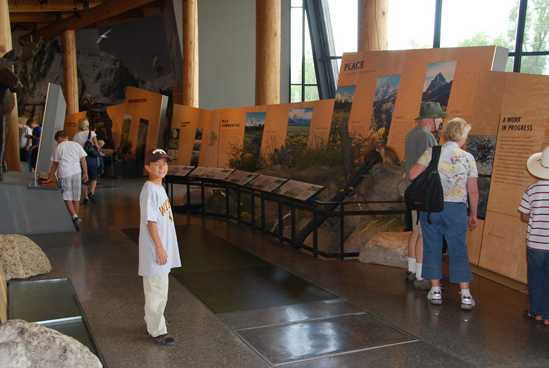 Jack, in the Tetons visitor center.