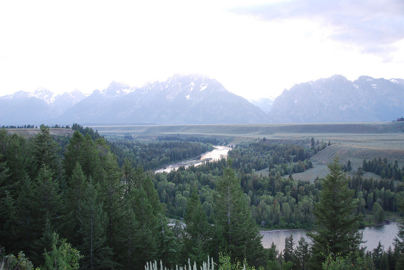 """Well, Ansel Adams took a better picture.  ( <a href=""""http://www.lotofago.com/uploaded/Adams_The_Tetons_and_the_Snake_River.jpg"""">http://www.lotofago.com/uploaded/Adams_The_Tetons_and_the_Snake_River.jpg</a>)  But it was cool to stand in the same place he did."""
