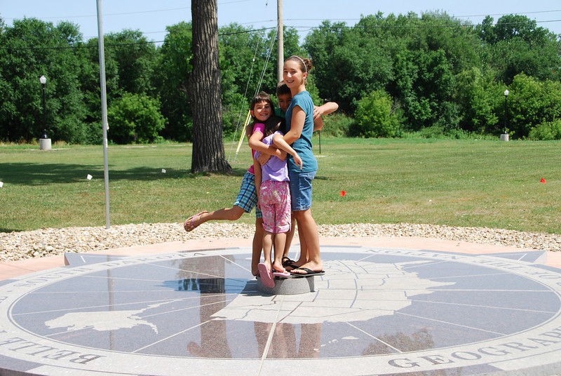 We made a side trip to Belle Fourche, South Dakota, to visit the geographic center of the US.  You wouldn't think the center would be so far north and west, but Alaska carries a lot of weight.  Before Alaska and Hawaii were admitted to the Union, the center was in Kansas.