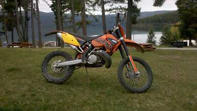 My new bike at Lake Mary Ronan. Isn't whe sexy!