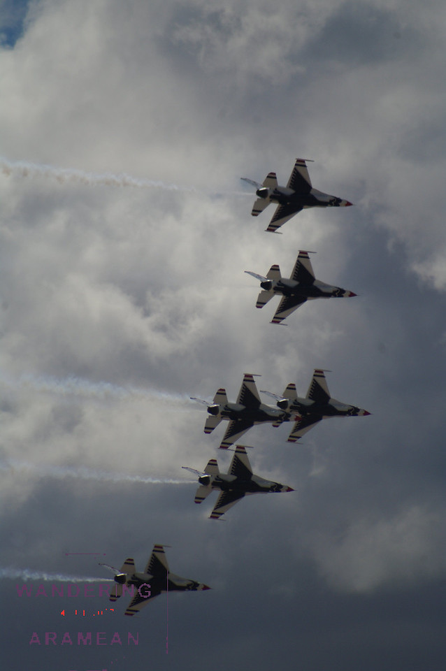 Flyover from the Thunder Birds prior to the race