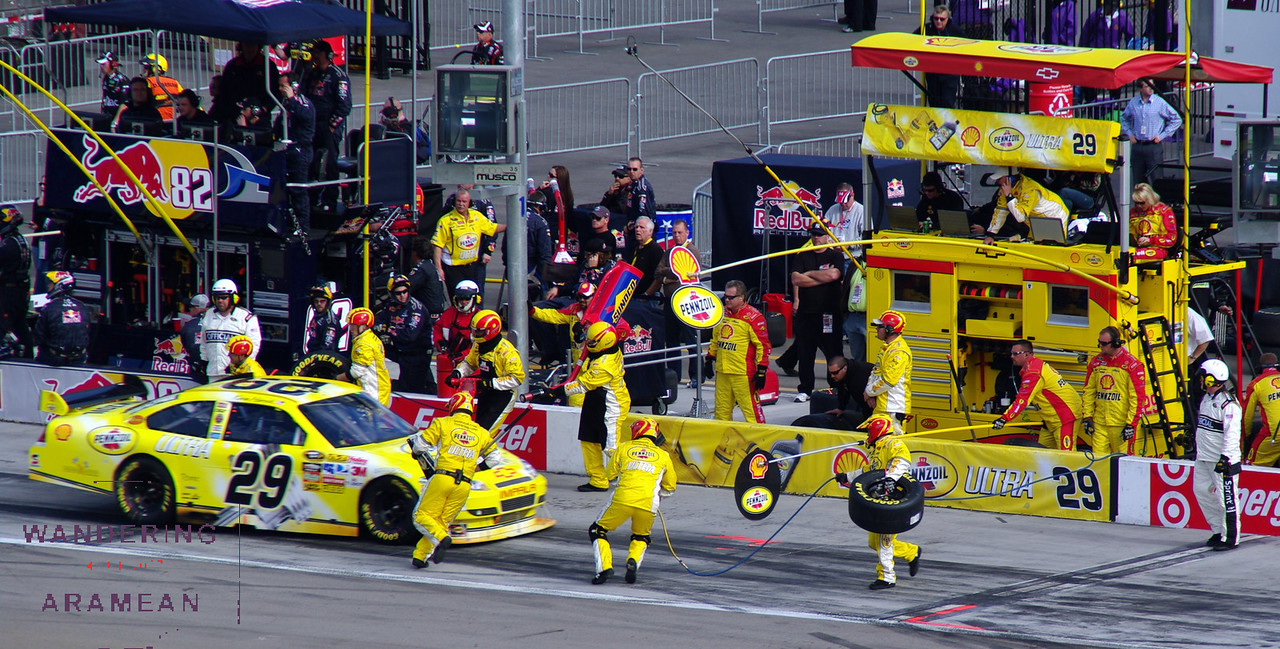 The pit crews were pretty amazing