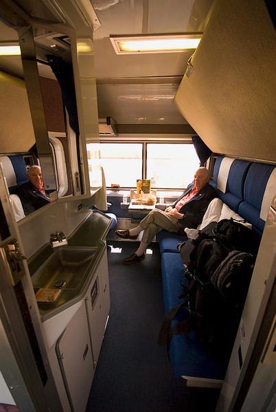 Amtrak's Auto Train sleeper car - deluxe bedroom unit