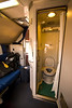 Amtrak's Auto Train sleeper car deluxe bedroom toilet/shower combo unit