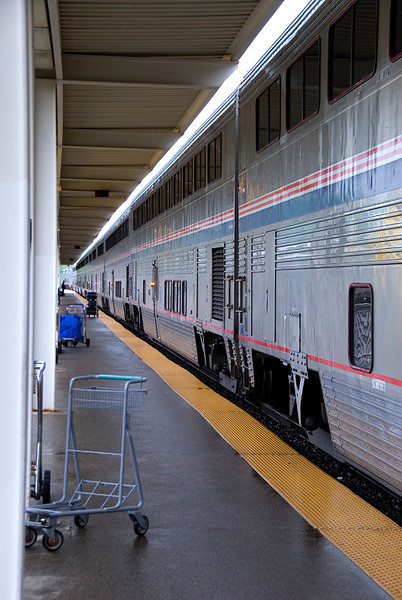 Amtrak's Auto Train passengers have departed the train at the Lorton Virginia station and Amtrak employees are already getting it ready to return to Florida in the afternoon