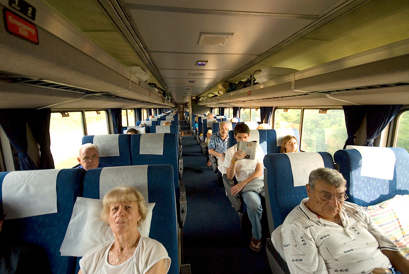 Amtrak's Auto Train coach car