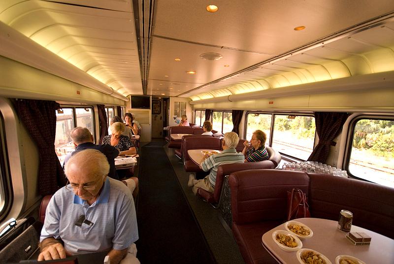 Amtrak's Auto Train lounge car, upper level