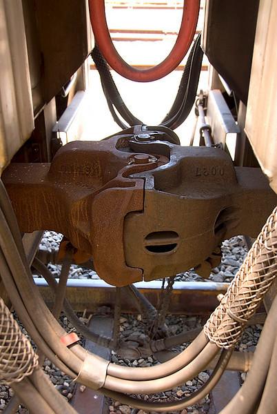 Amtrak's Auto Train coupling detail