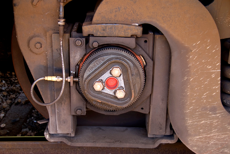 Amtrak's Auto Train sleeper car wheel detail