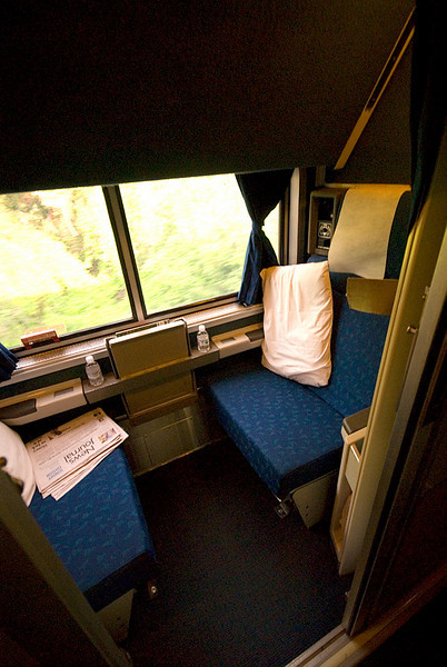 Amtrak's Auto Train sleeper roomet