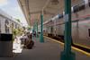 Amtrak's Auto Train at the Sanford Florida station platform, sleeper cars