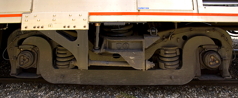 Amtrak's Auto Train sleeper car wheel set