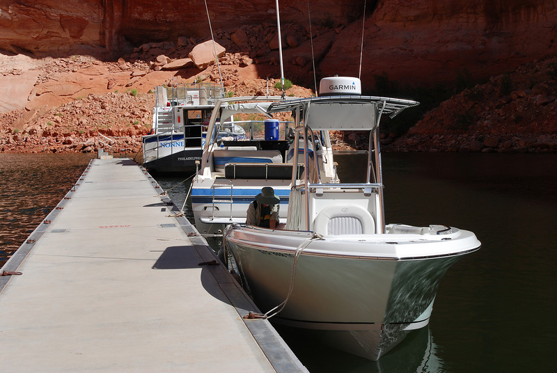 When we returned a tour boat arrived from Wahweap.  I believe it is a 5-6 hour tour, a great way to experience Lake Powell if you have little time.