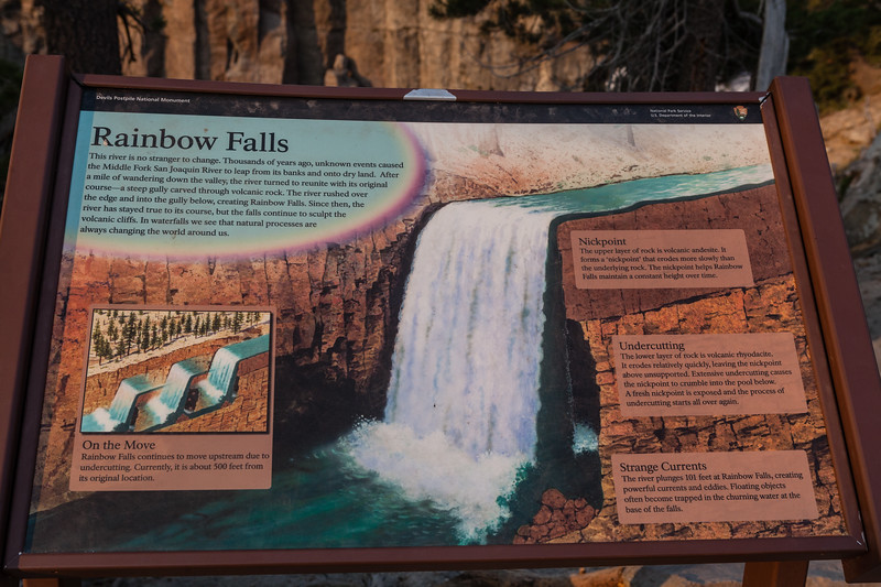 Once you get to Rainbow Falls, you can some interesting facts