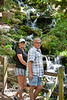 Cindy and Scott Dombrowski enjoying the waterfalls at Rainbow Springs State Park - Photo by Pat Bonish