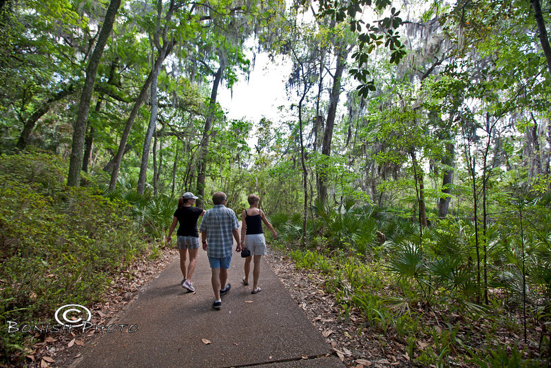 Walking along the wide trails in Rainbow Springs State Park - Photo by Pat Bonish