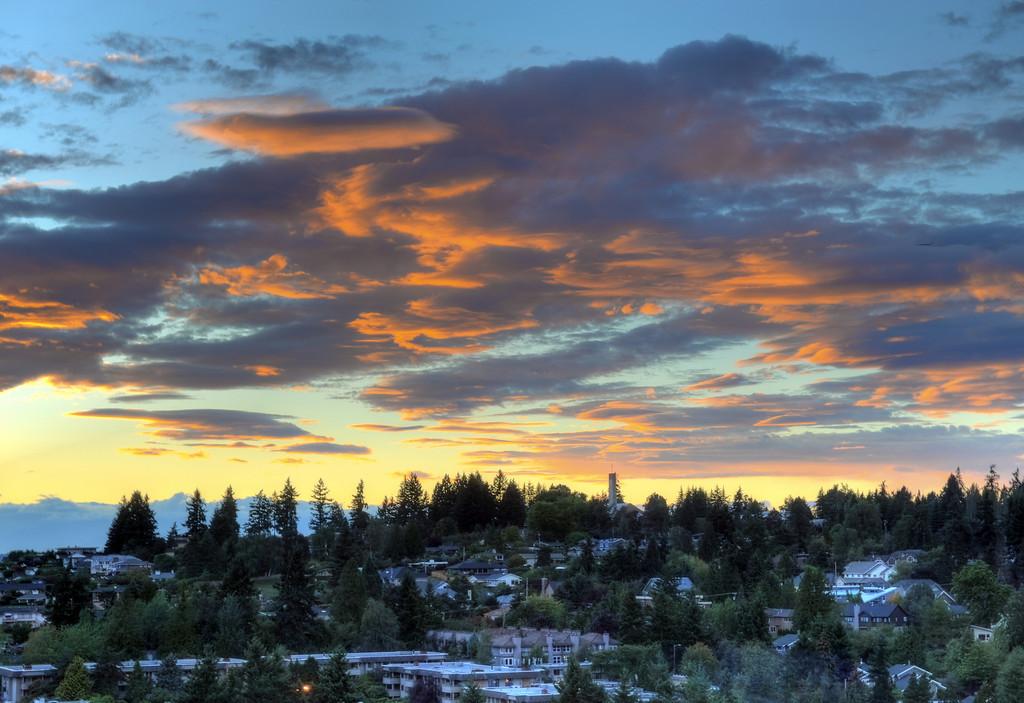Sunset over Bellevue
