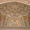 Ganesh art at Amber fort - notice the blend of Indian and Persian architecture