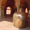 Water cauldron at Jaipur palace. Legend has it that when one of the Maharajas visited London, he took water of the Ganga in this cauldron to London, lest the water of the Thames pollute his body.