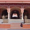 Courtyard at Jaipur palace. Entrance to the Diwan-i-khas.