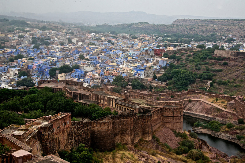 View of the Blue City from the fort