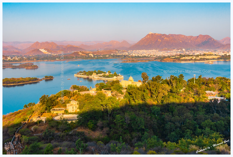 Lake Pichola, Udaipur, in the golden morning light.