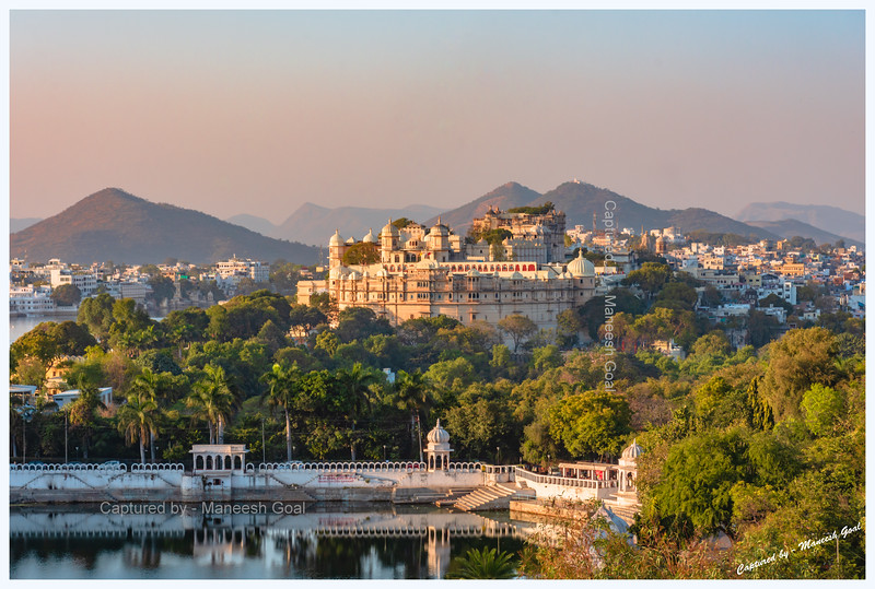 Partial view of the City Palace, Udaipur