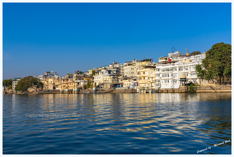Various ghats along the banks of Lake Pichola, Udaipur