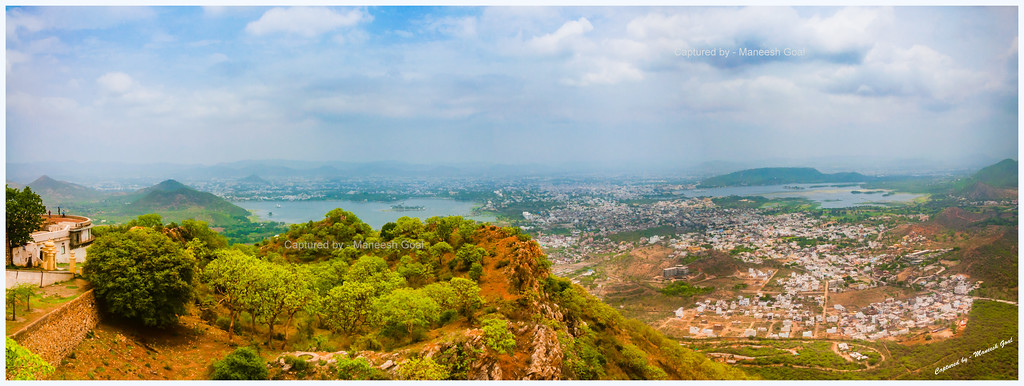 Panorama of Udaipur City, as seen from Sajjangarh