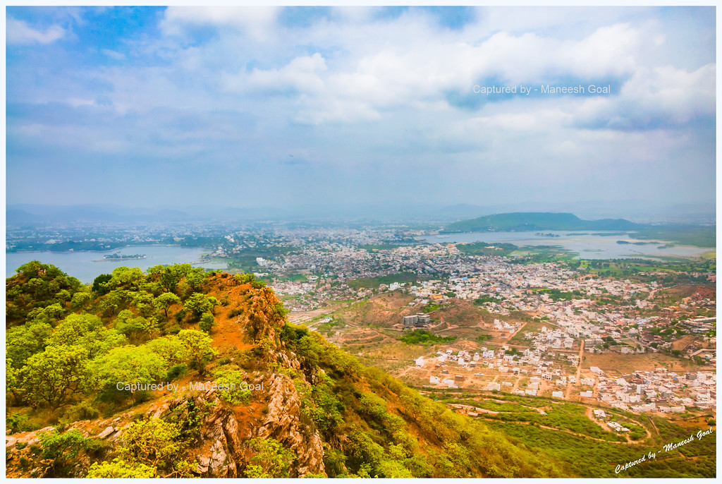 Udaipur City, as seen from Sajjangarh (HDR Image)