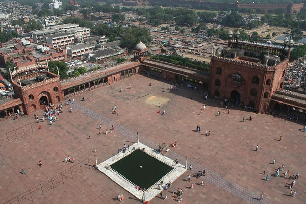 Delhi's Jama Masjid, the largest mosque in India.