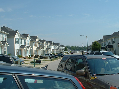 June 2005 - Raleigh, North Carolina - visit Lynn Sullivan - view of her townhome area