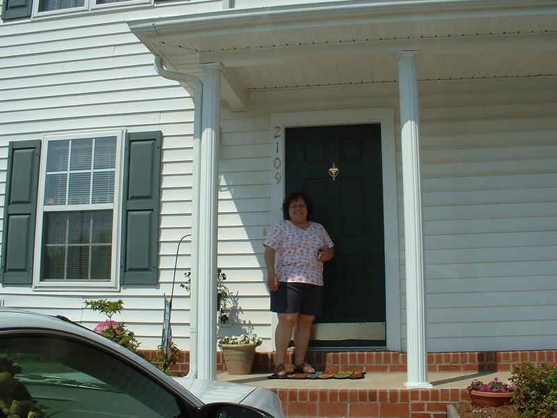 June 2005 - Raleigh, North Carolina - Lynn Sullivan on her front porch