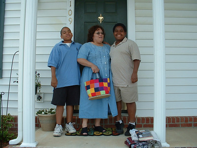 June 2005 - Raleigh, North Carolina - Lynn and her boys, Jeremy (Left) and Steven (Right)