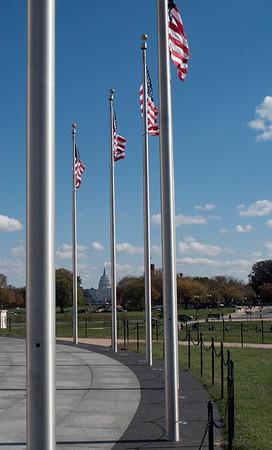 Flags at Washington Memorial