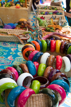 Colourful bangles at the market