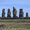 Ahu Vai Uri.  These Moai have very different styles and shapes